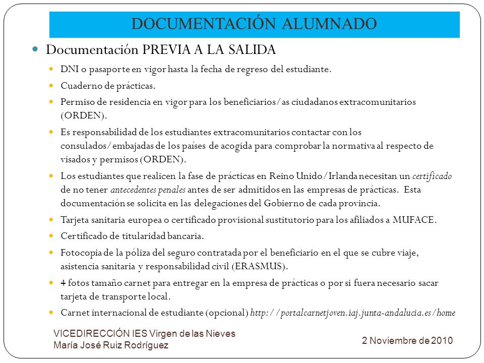 DOCUMENTACIÓN ALUMNADO