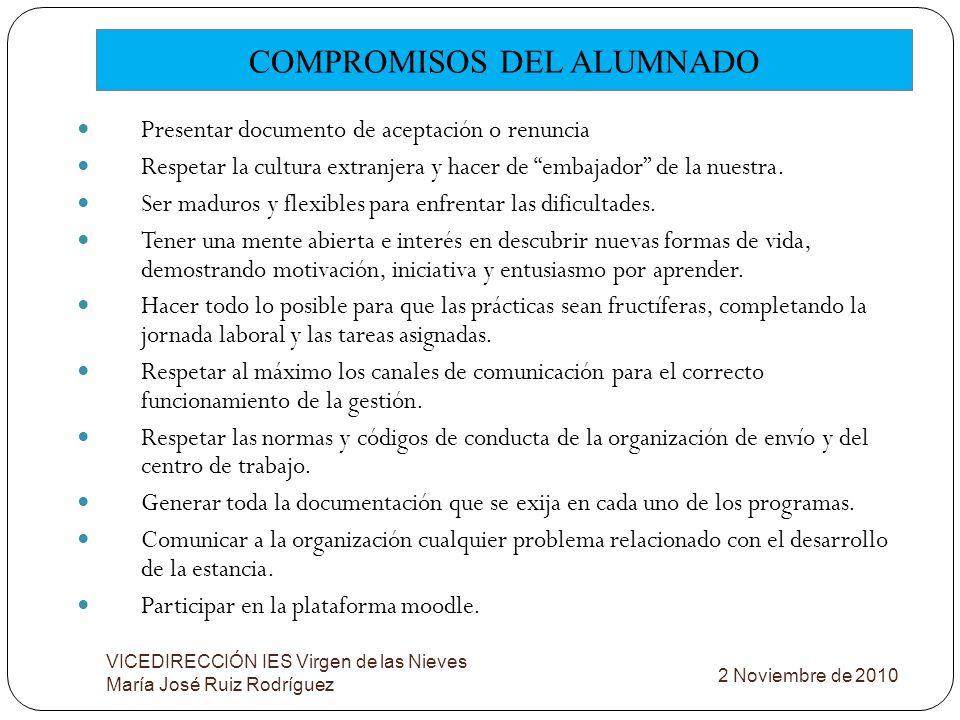 COMPROMISOS DEL ALUMNADO