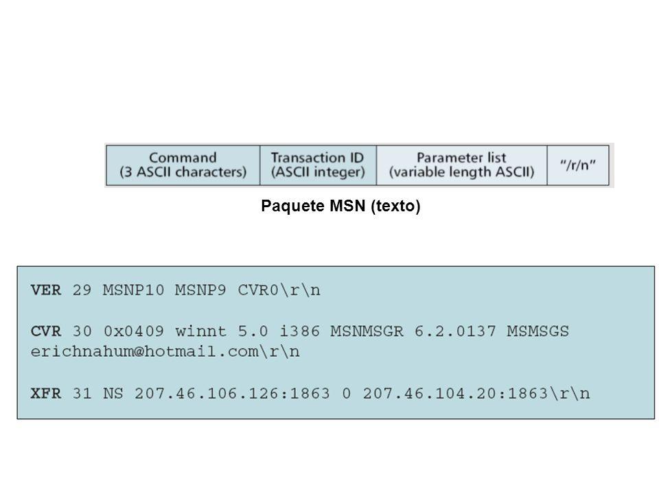 Paquete MSN (texto)
