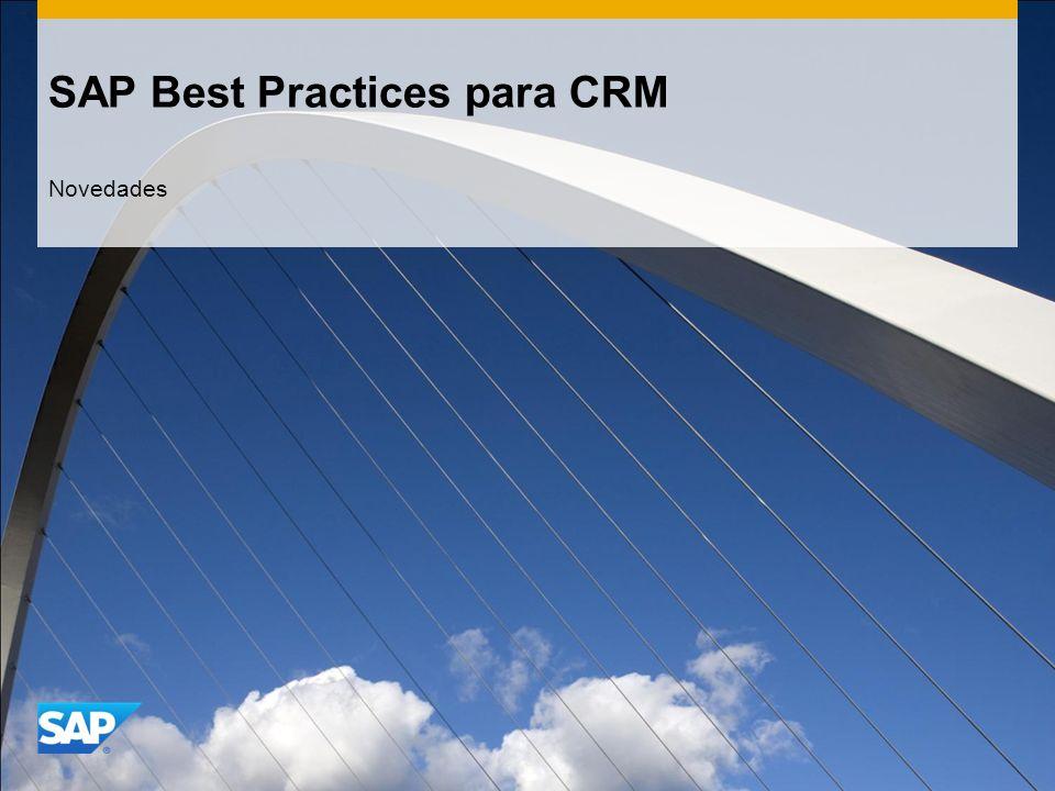 SAP Best Practices para CRM