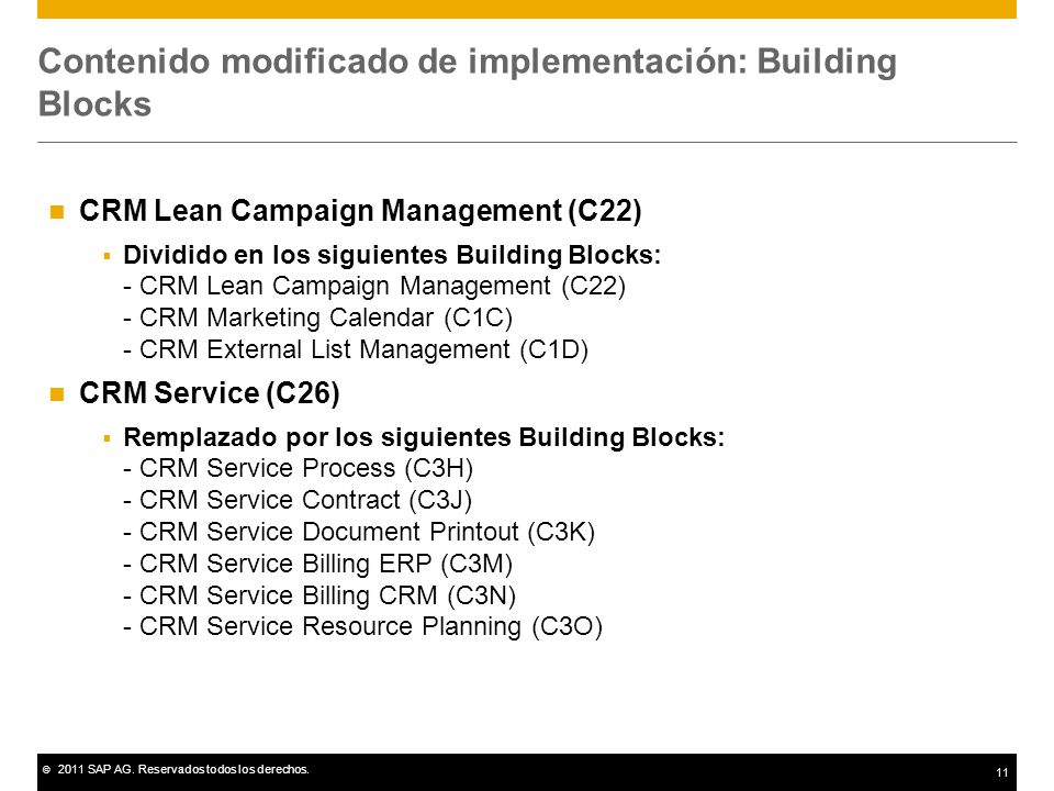 Contenido modificado de implementación: Building Blocks