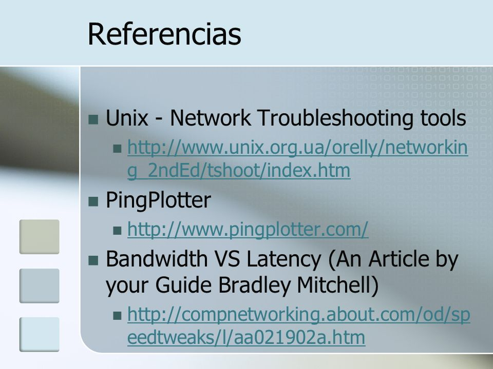 Referencias Unix - Network Troubleshooting tools PingPlotter