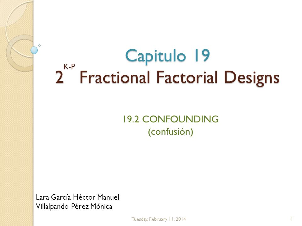 Capitulo 19 2 Fractional Factorial Designs