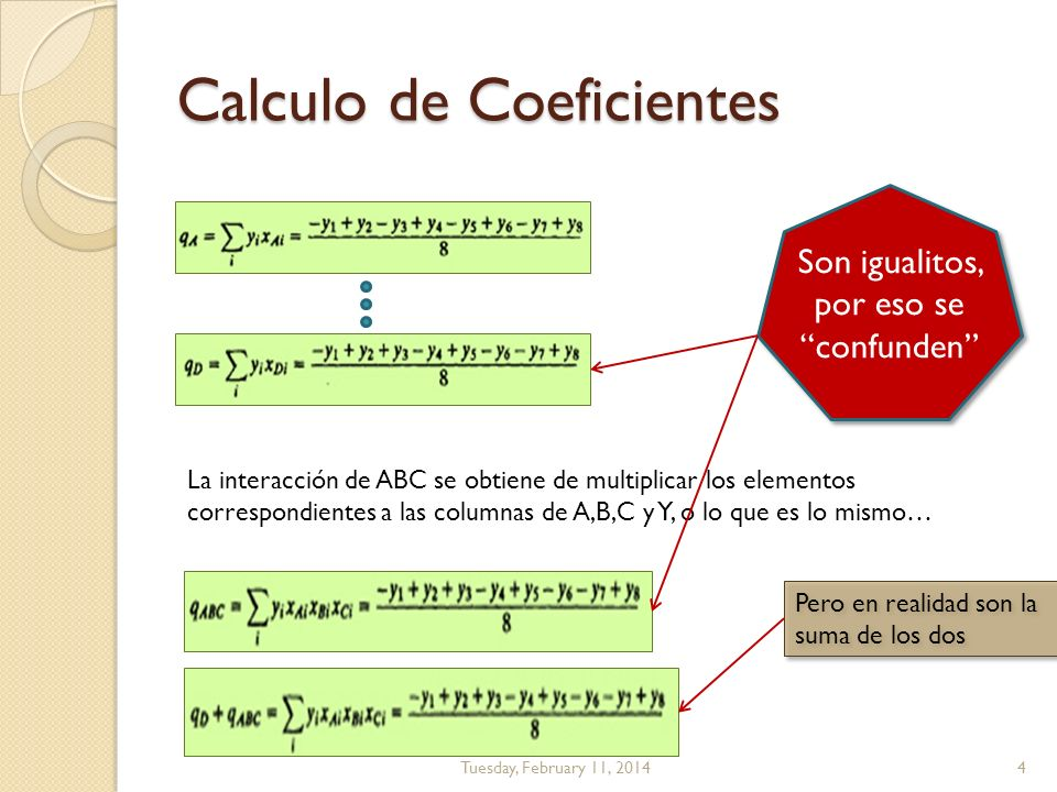 Calculo de Coeficientes