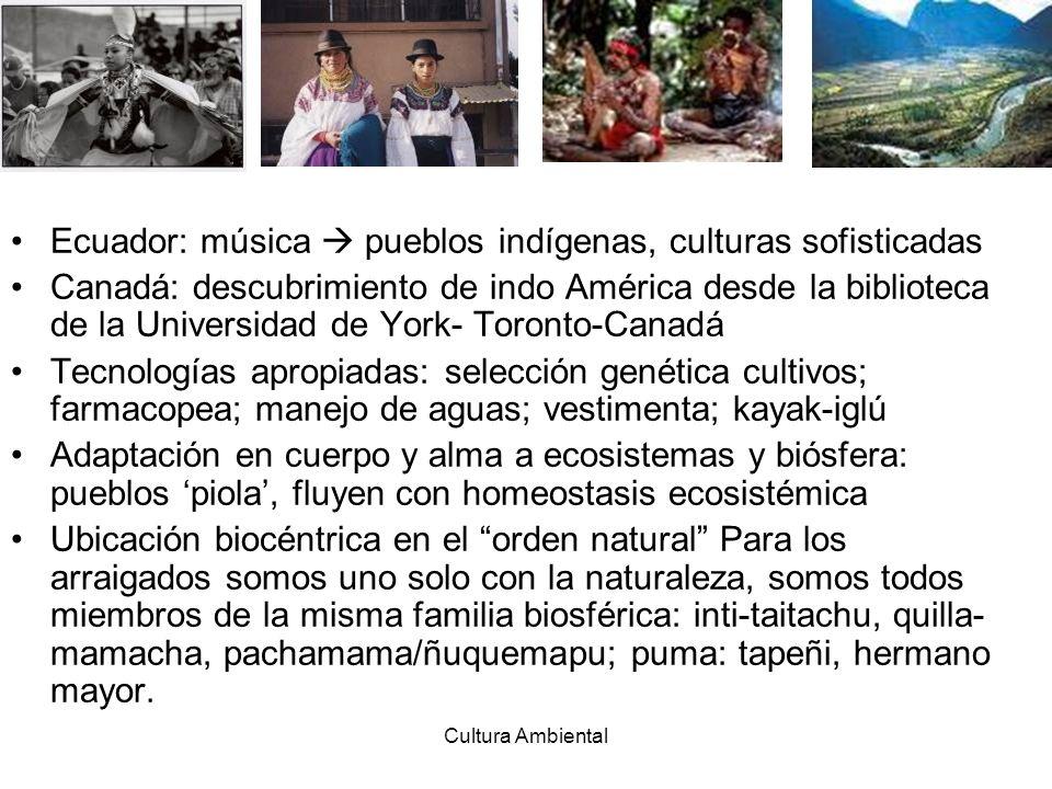 Ecuador: música  pueblos indígenas, culturas sofisticadas