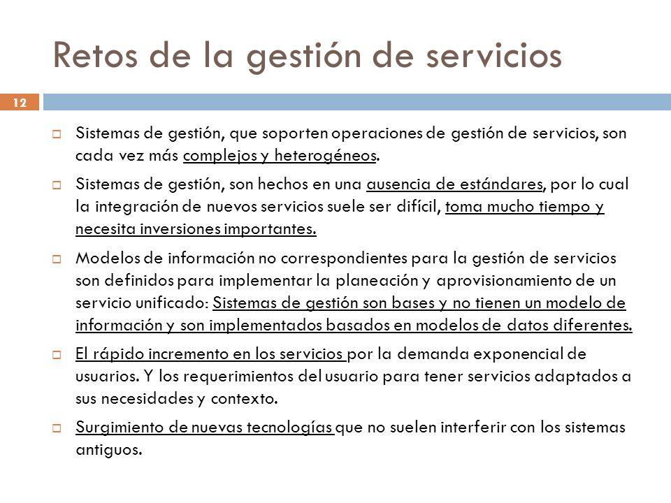 Retos de la gestión de servicios