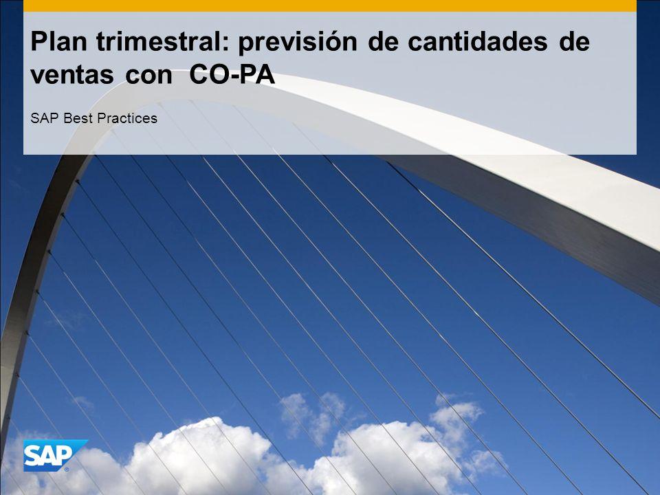 Plan trimestral: previsión de cantidades de ventas con CO-PA