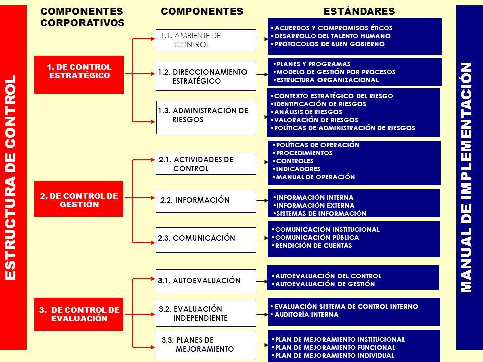 ESTRUCTURA DE CONTROL MANUAL DE IMPLEMENTACIÓN