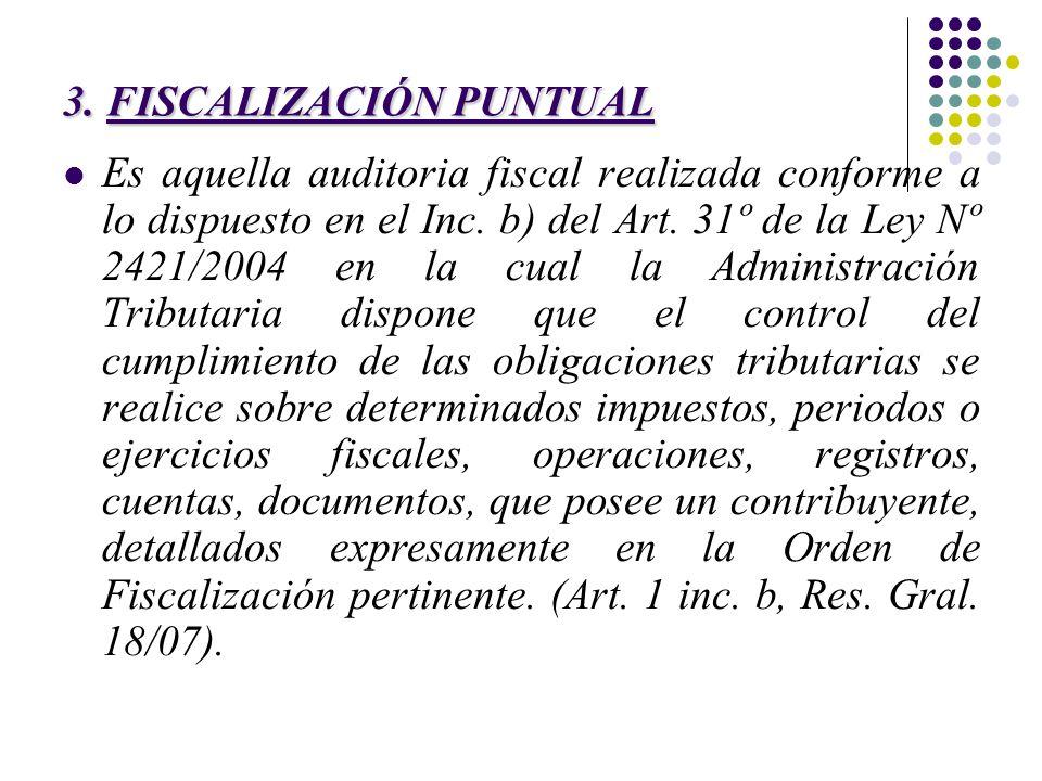 3. FISCALIZACIÓN PUNTUAL
