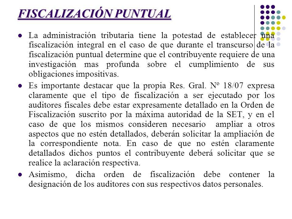 FISCALIZACIÓN PUNTUAL