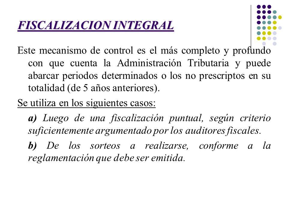 FISCALIZACION INTEGRAL