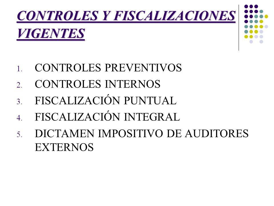 CONTROLES Y FISCALIZACIONES VIGENTES