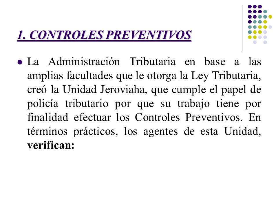 1. CONTROLES PREVENTIVOS