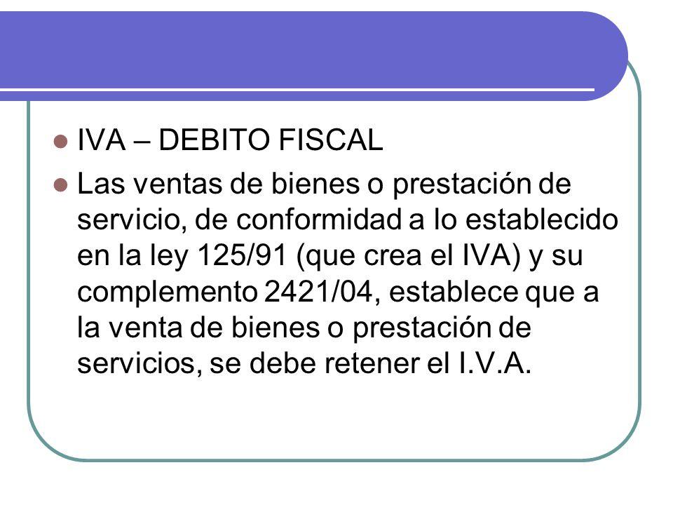 IVA – DEBITO FISCAL