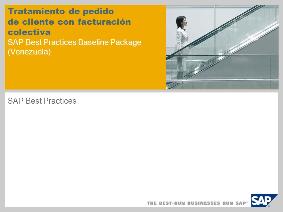 Tratamiento de pedido de cliente con facturación colectiva SAP Best Practices Baseline Package (Venezuela)