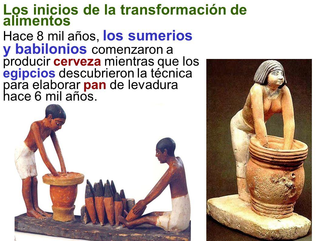 Los inicios de la transformación de alimentos
