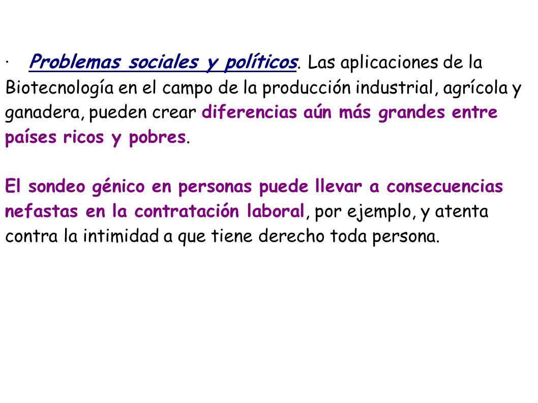 ·. Problemas sociales y políticos
