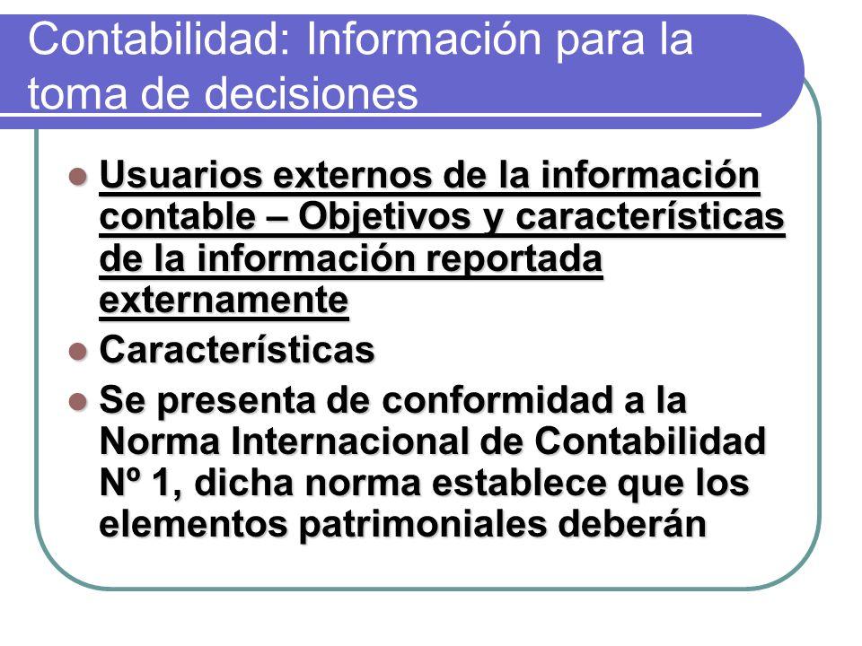 Contabilidad: Información para la toma de decisiones
