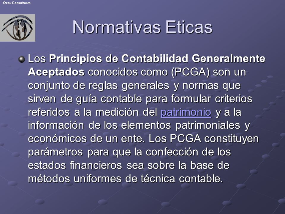 Ocau Consultores Normativas Eticas.