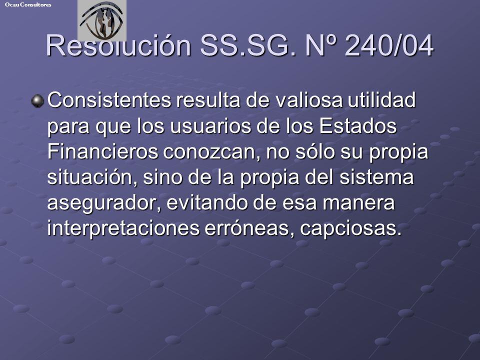 Ocau Consultores Resolución SS.SG. Nº 240/04.
