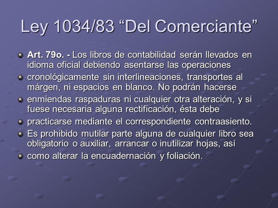 Ley 1034/83 Del Comerciante
