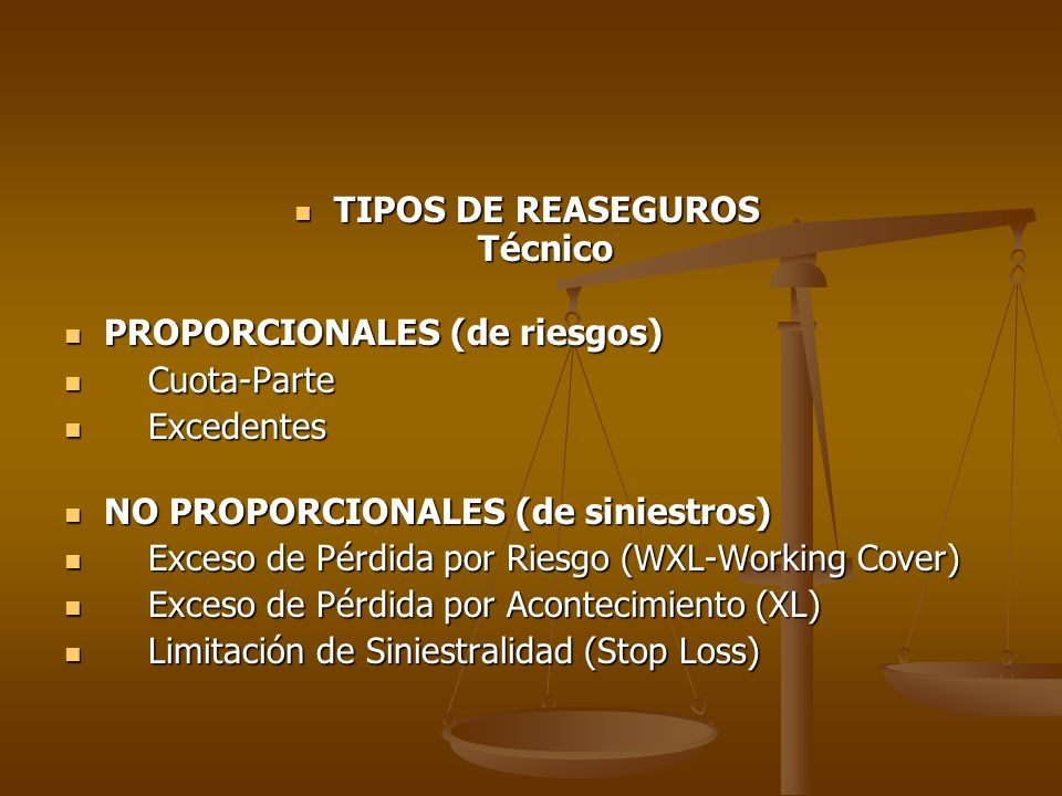 TIPOS DE REASEGUROS Técnico