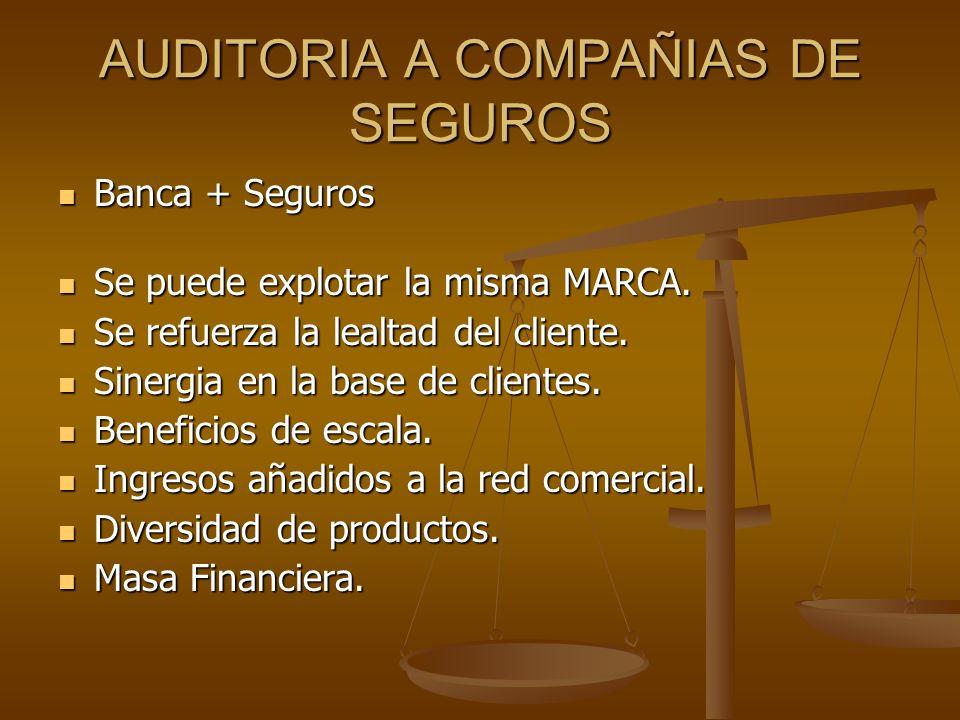 AUDITORIA A COMPAÑIAS DE SEGUROS