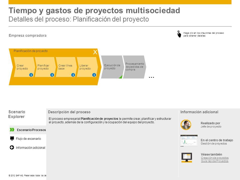 Tiempo y gastos de proyectos multisociedad Detalles del proceso: Planificación del proyecto