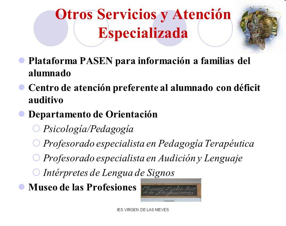 Otros Servicios y Atención Especializada