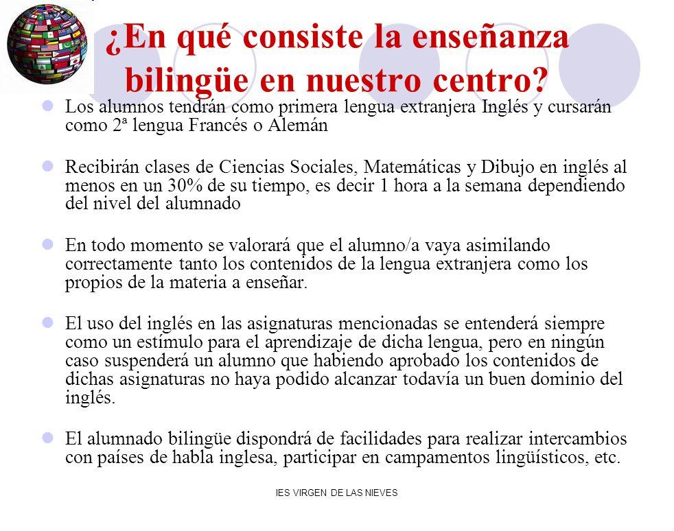 ¿En qué consiste la enseñanza bilingüe en nuestro centro