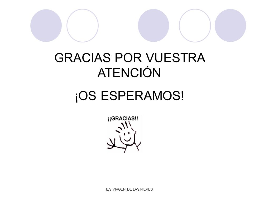 GRACIAS POR VUESTRA ATENCIÓN ¡OS ESPERAMOS!