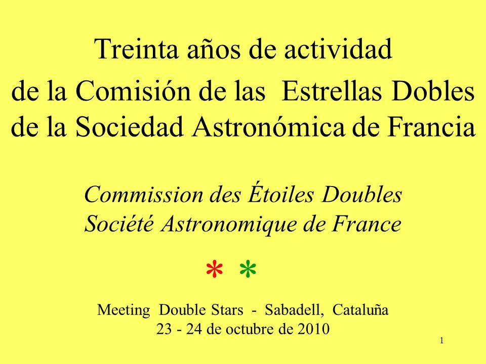 Meeting Double Stars - Sabadell, Cataluña 23 - 24 de octubre de 2010