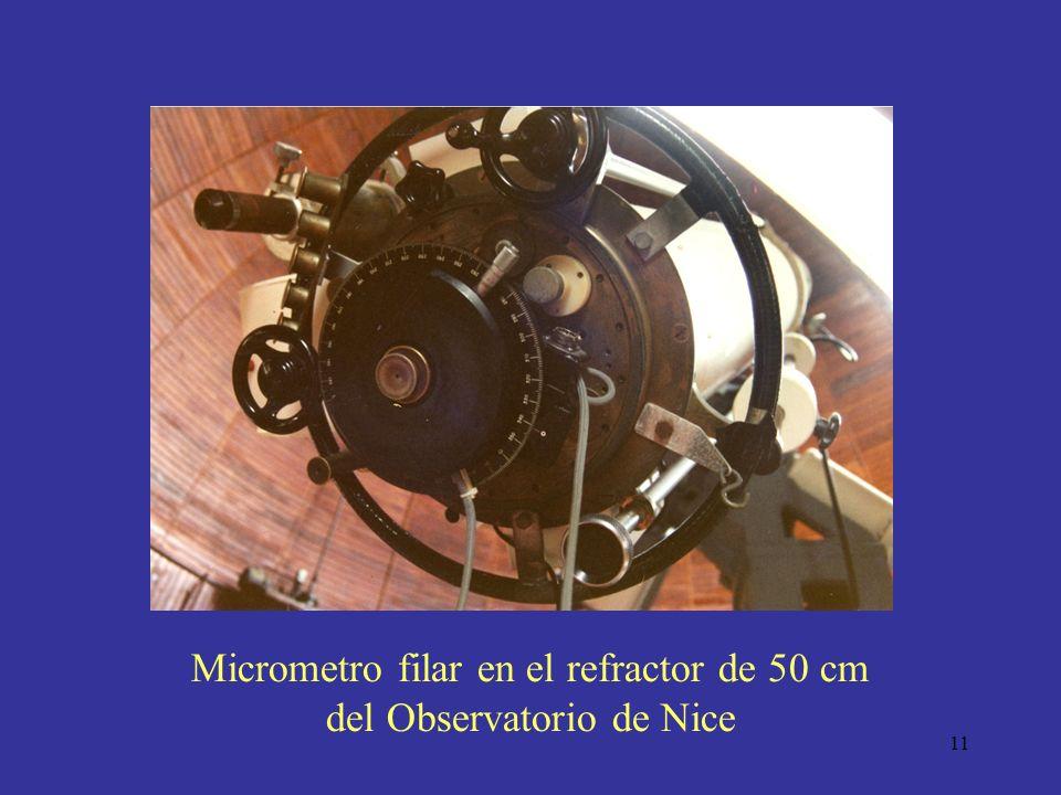 Micrometro filar en el refractor de 50 cm del Observatorio de Nice