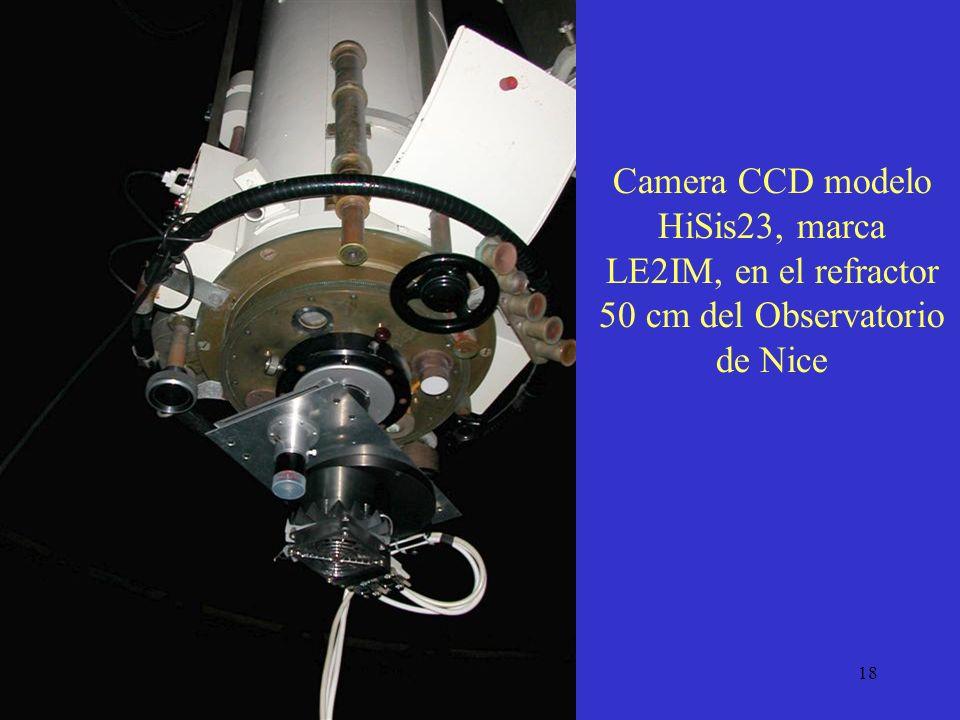 Camera CCD modelo HiSis23, marca LE2IM, en el refractor 50 cm del Observatorio de Nice
