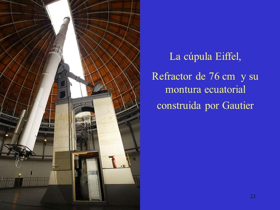 Refractor de 76 cm y su montura ecuatorial construida por Gautier