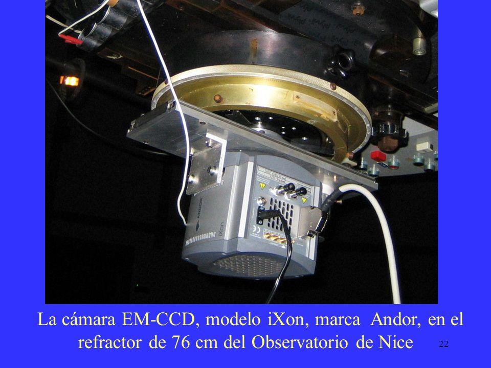 La cámara EM-CCD, modelo iXon, marca Andor, en el refractor de 76 cm del Observatorio de Nice