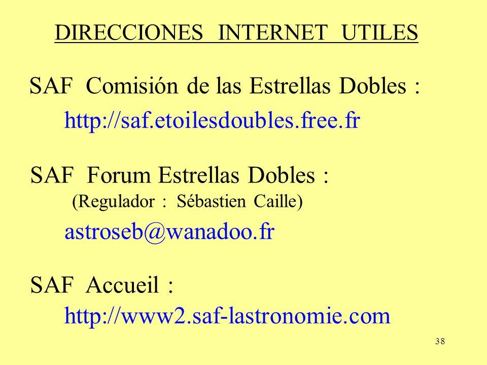 DIRECCIONES INTERNET UTILES