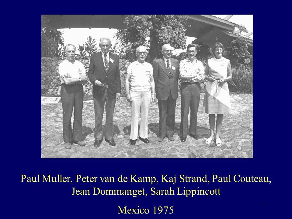 Paul Muller, Peter van de Kamp, Kaj Strand, Paul Couteau, Jean Dommanget, Sarah Lippincott