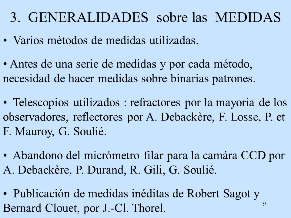 3. GENERALIDADES sobre las MEDIDAS
