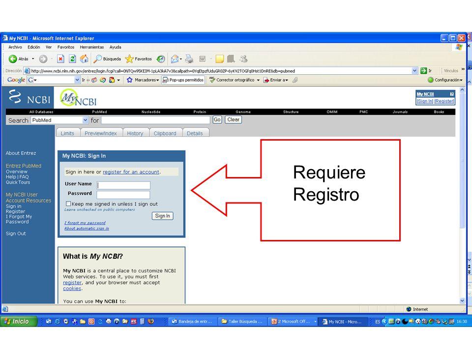 Requiere Registro