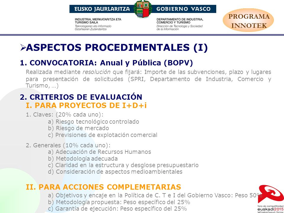 ASPECTOS PROCEDIMENTALES (I)