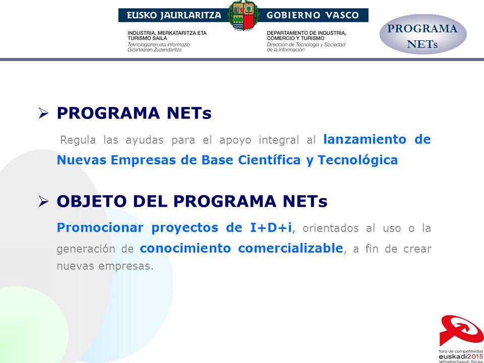 OBJETO DEL PROGRAMA NETs