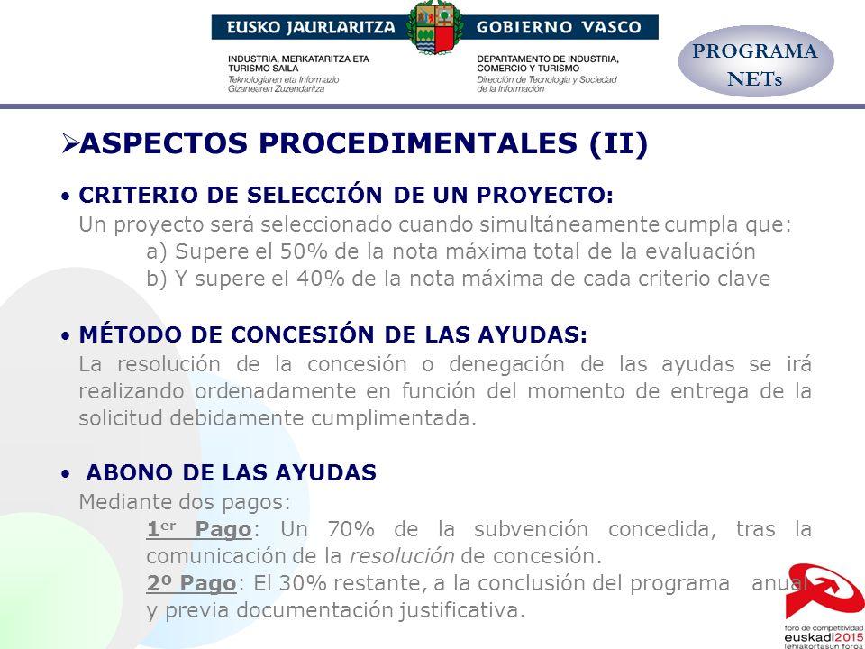 ASPECTOS PROCEDIMENTALES (II)
