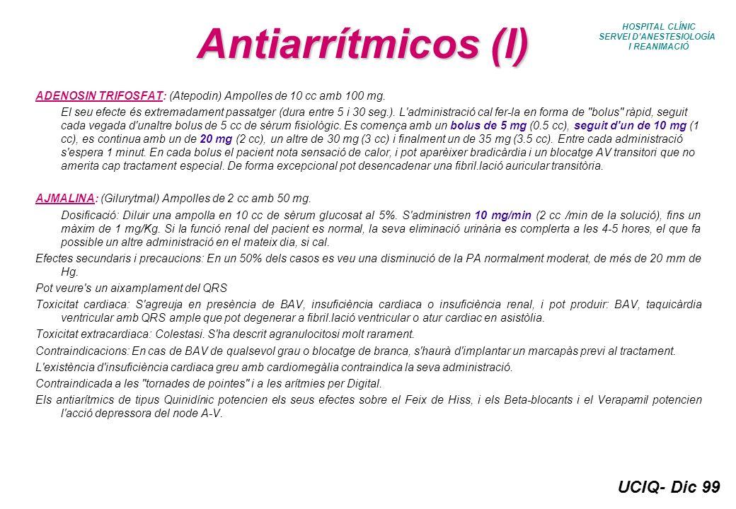 SERVEI D'ANESTESIOLOGÍA