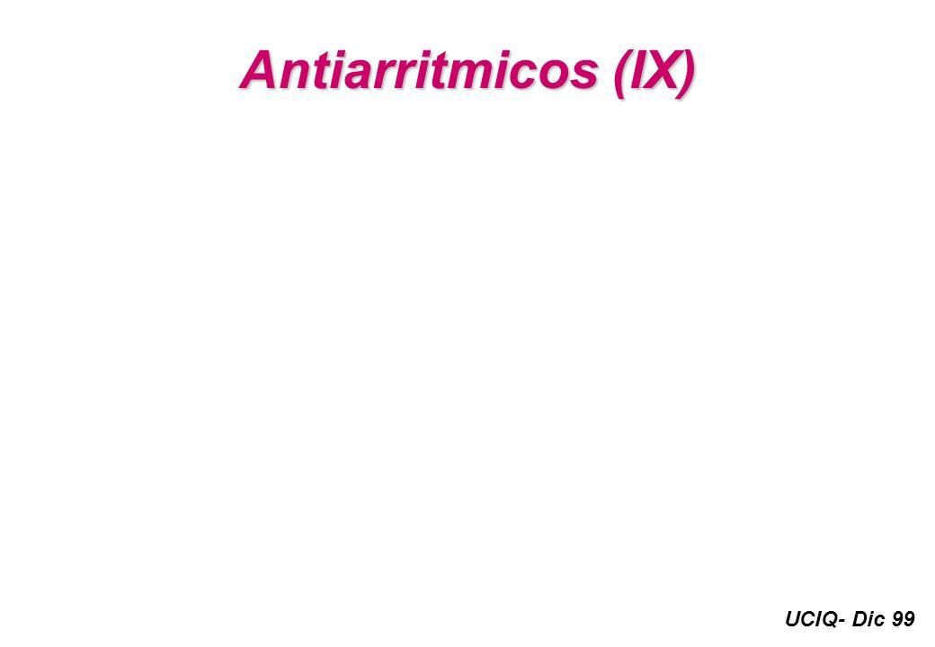 Antiarritmicos (IX)