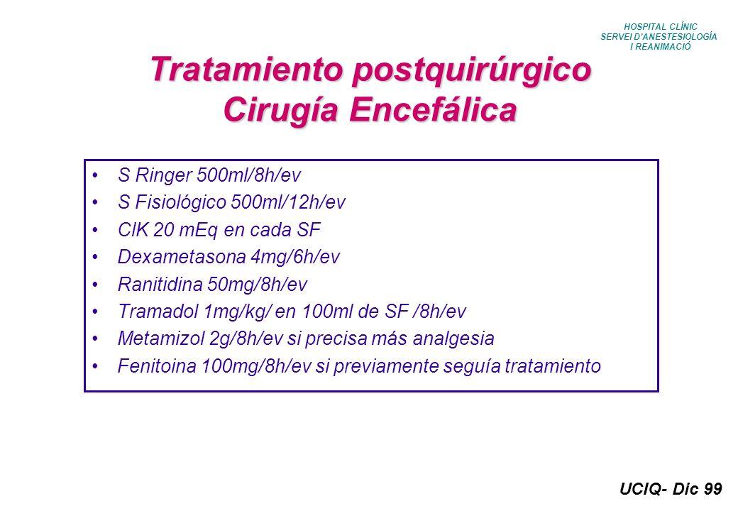 Tratamiento postquirúrgico Cirugía Encefálica