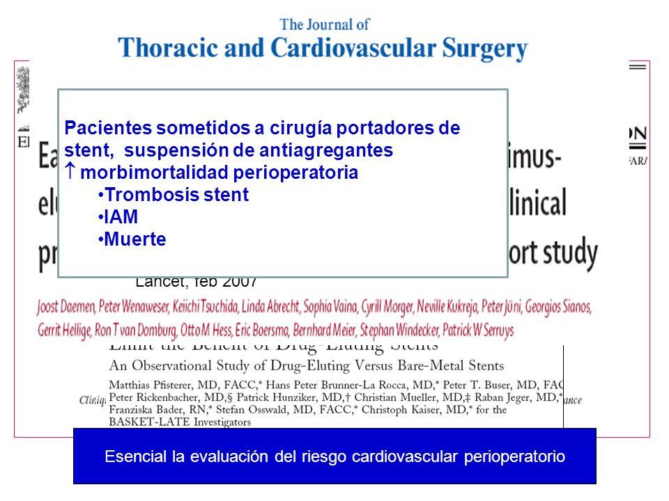 Esencial la evaluación del riesgo cardiovascular perioperatorio