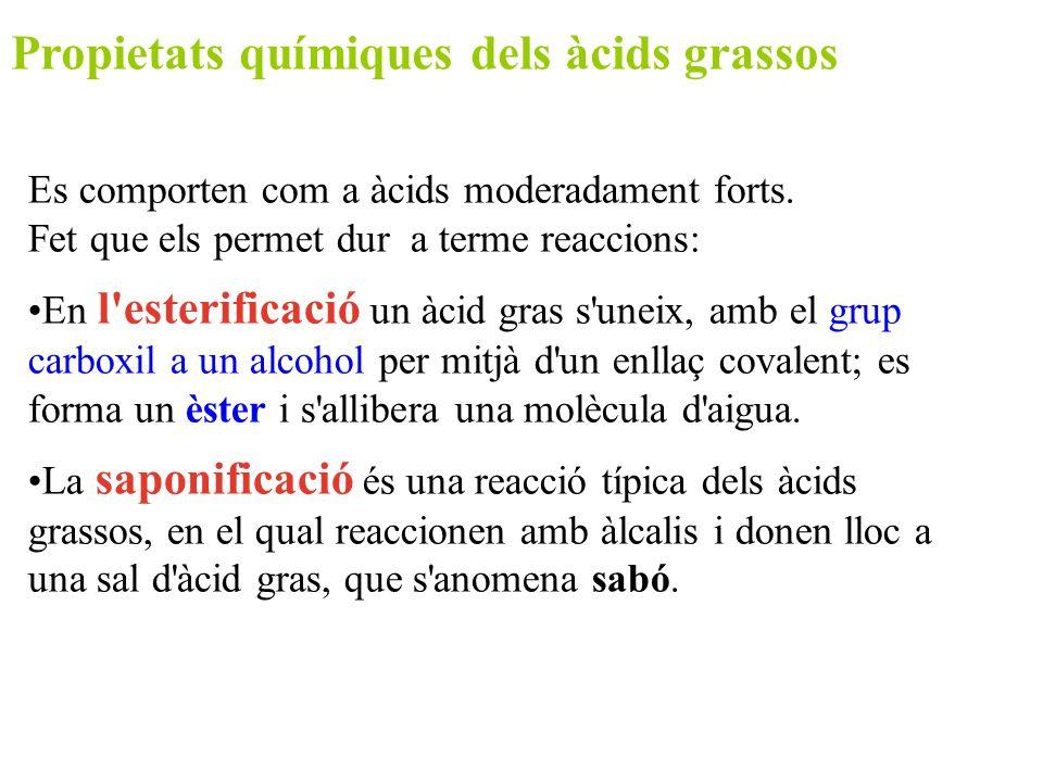 Propietats químiques dels àcids grassos