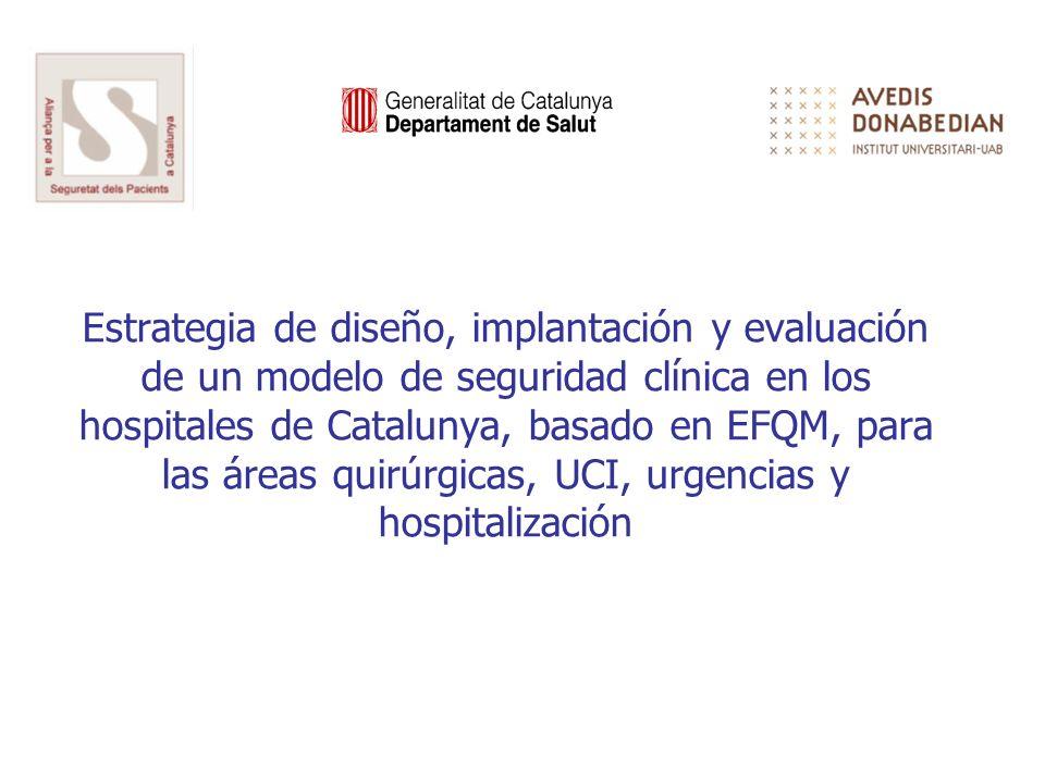 Estrategia de diseño, implantación y evaluación de un modelo de seguridad clínica en los hospitales de Catalunya, basado en EFQM, para las áreas quirúrgicas, UCI, urgencias y hospitalización