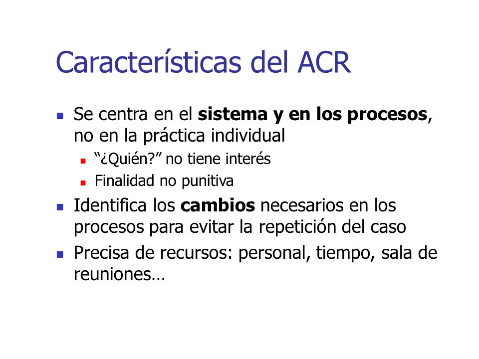 Características del ACR